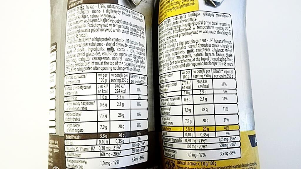 Super Body Active Mlekovita - skład i tabela wartości odżywczych