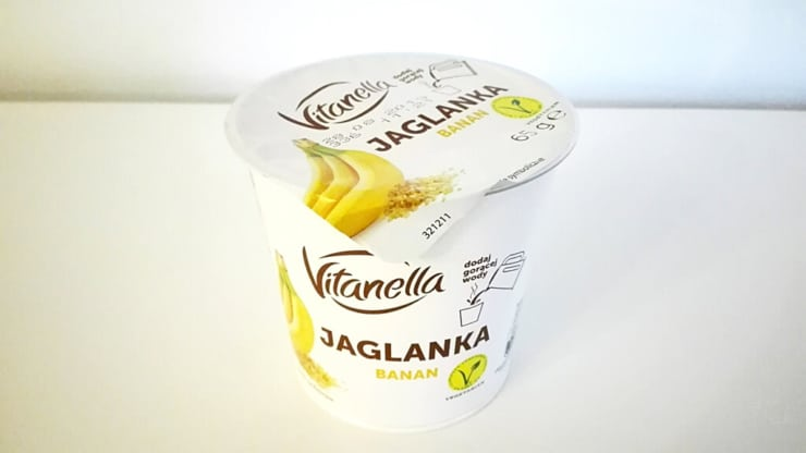 Jaglanka Vitanella o smaku banana z Biedronki