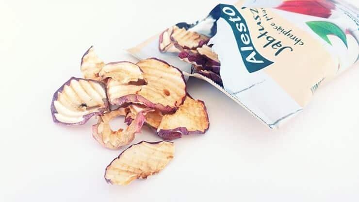Jabłuszka chrupiące plasterki, Alesto - wygląd chipsów