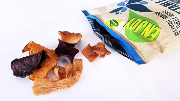 Chipsy warzywne ENJOY (z solą morską) - wygląd chipsów