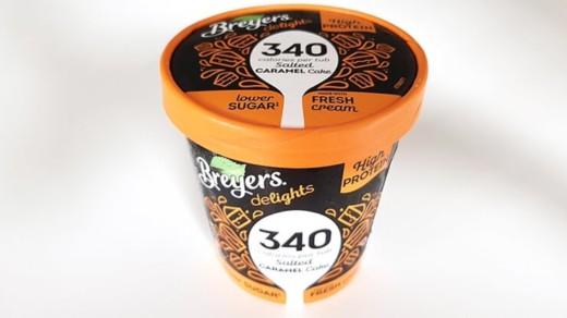 Lody BREYERS Delights wysokoproteinowe o smaku słonego karmelu