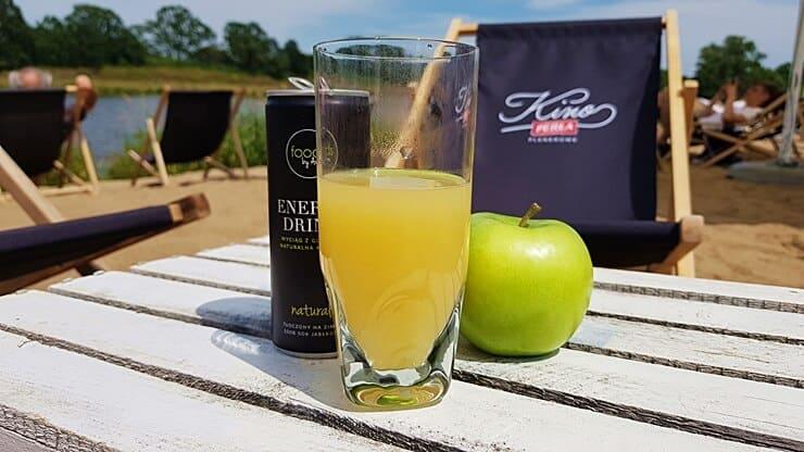 Natural Energy Drink, Foods by Ann - prezentacja produktu na plaży miejskiej
