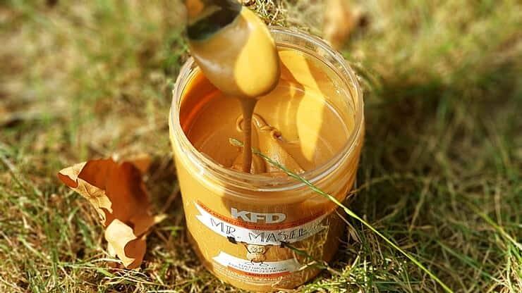 Masło orzechowe KFD 100% (smooth) - wygląd masła