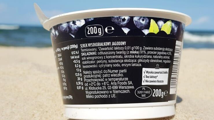 Arla Protein Serek wysokobiałkowy (jagodowy) - skład