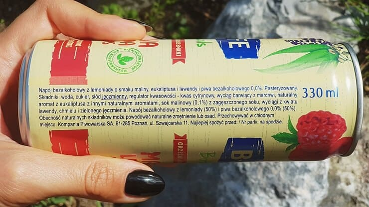 Napój B-life Botanicals (malina, lawenda, eukaliptus) - skład