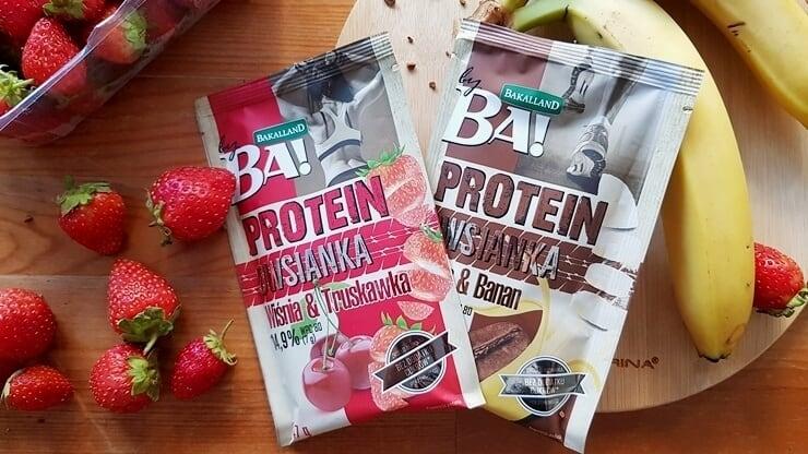 Owsianka Proteinowa, BA! Bakalland (kawa&banan + wiśnia&truskawka)