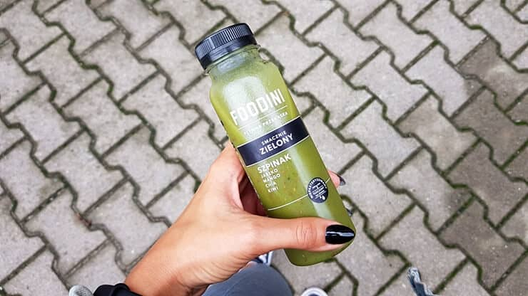 Smoothie Foodini (smacznie zielony) - napój owocowo-warzywny z dodatkiem nasion chia