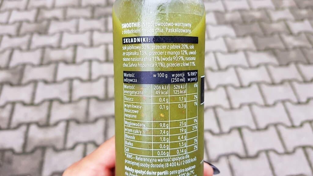 Smoothie Foodini (smacznie zielony) - skład i tabela wartości odżywczych