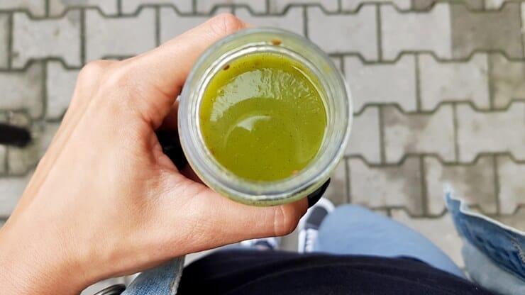 Smoothie Foodini (smacznie zielony) - wygląd napoju