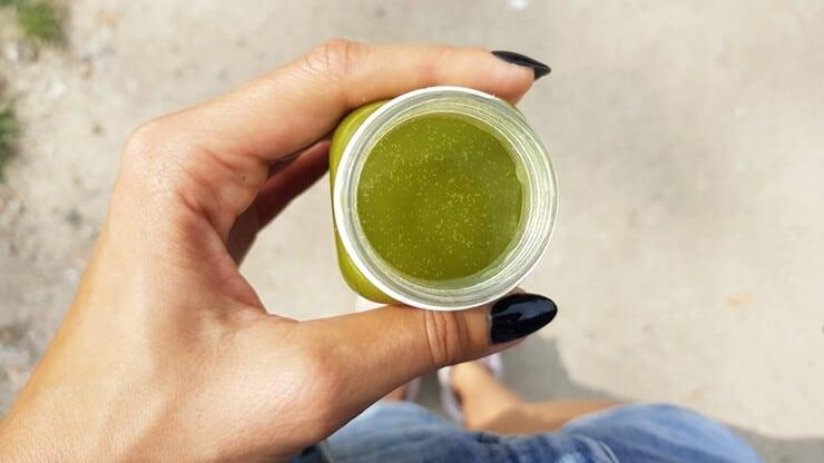 Sok Wycisk (zielony) z Żabki - wygląd napoju