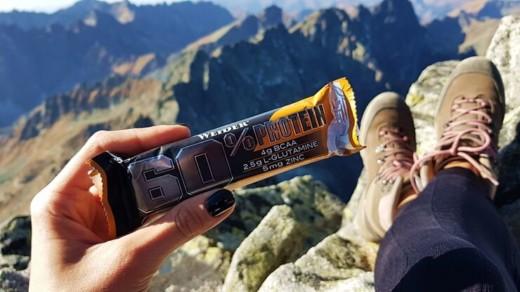 Baton proteinowy WEIDER 60% (salted peanut-caramel)