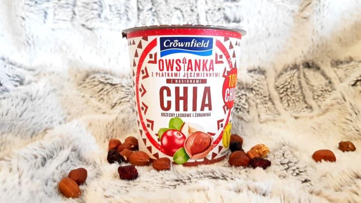 Owsianka CHIA z Lidla, Crownfield (orzechy laskowe i żurawina)