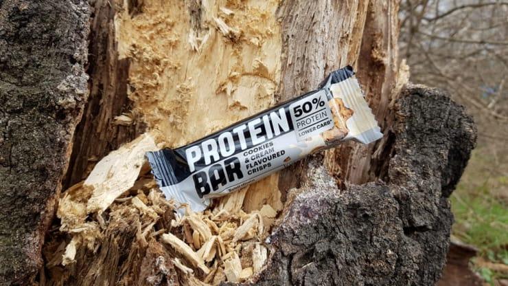 Baton proteinowy Protein Bar 50%, Lidl (cookies & cream)