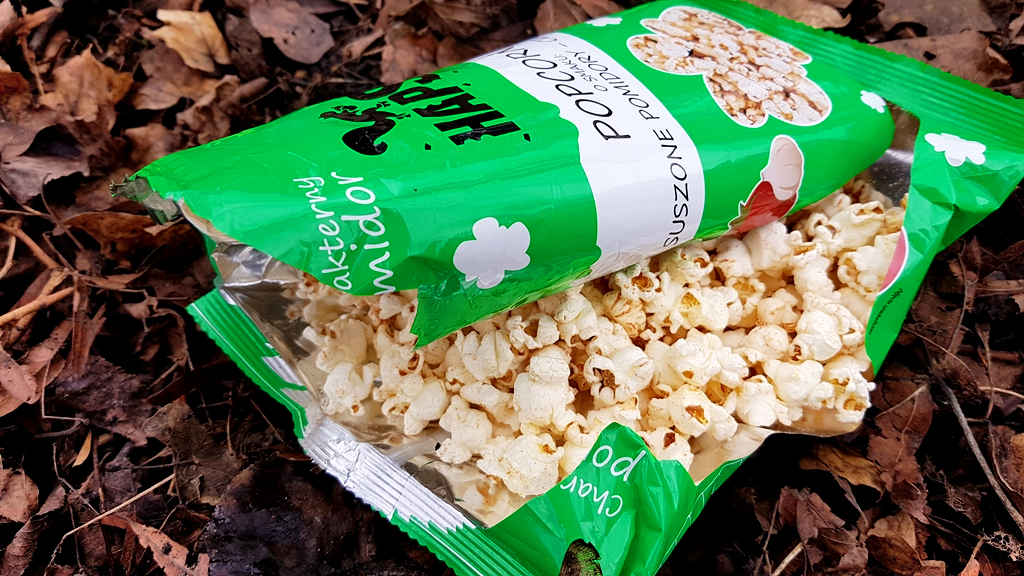 Popcorn Haps (suszone pomidory i czosnek) - wygląd produktu