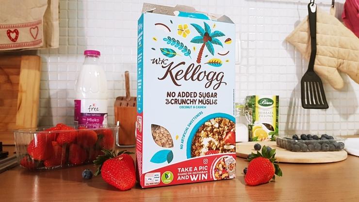 Kellogg's Musli bez cukru (kokos i orzechy nerkowca)