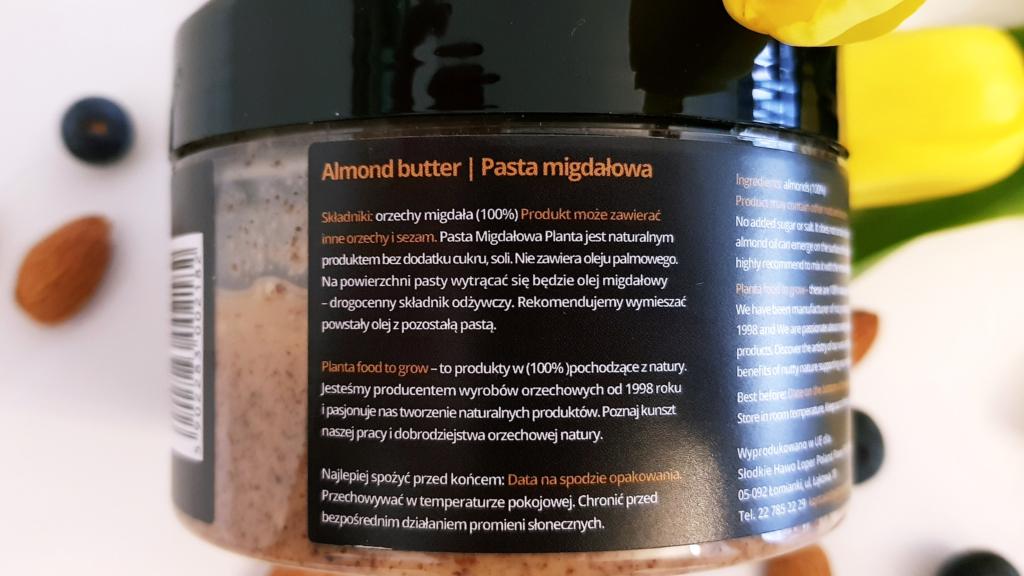 Pasta migdałowa Planta - skład