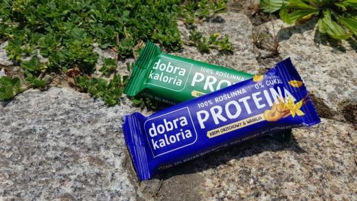 Batony Dobra Kaloria Proteina - krem orzechowy & wanilia i krem orzechowy & sól