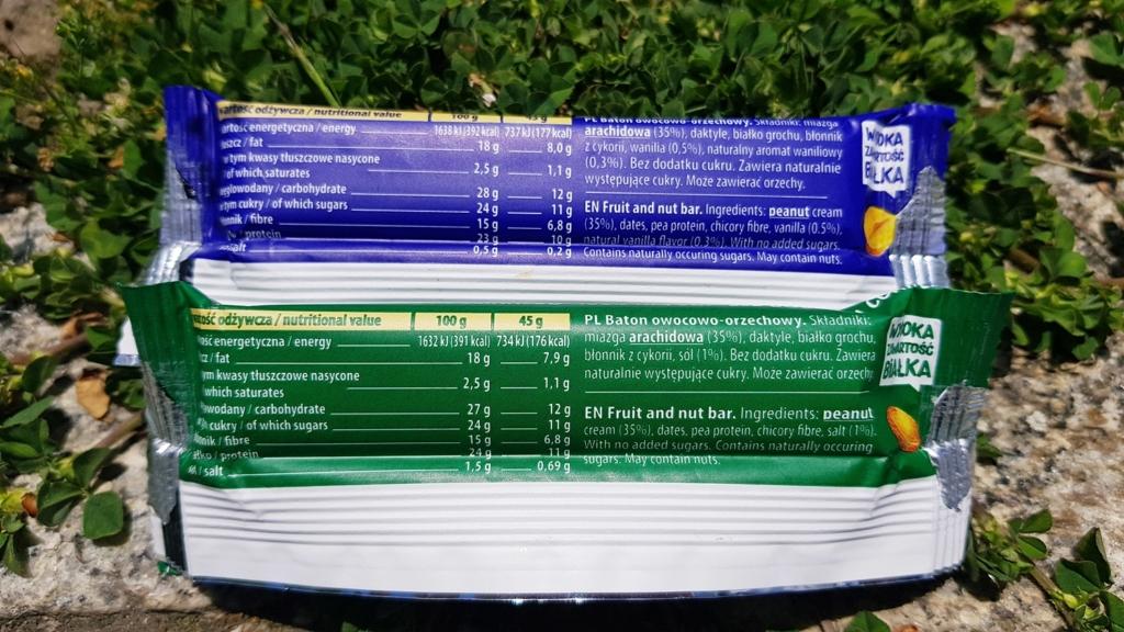 Batony Dobra Kaloria Proteina - skład i tabela wartości odżywczych