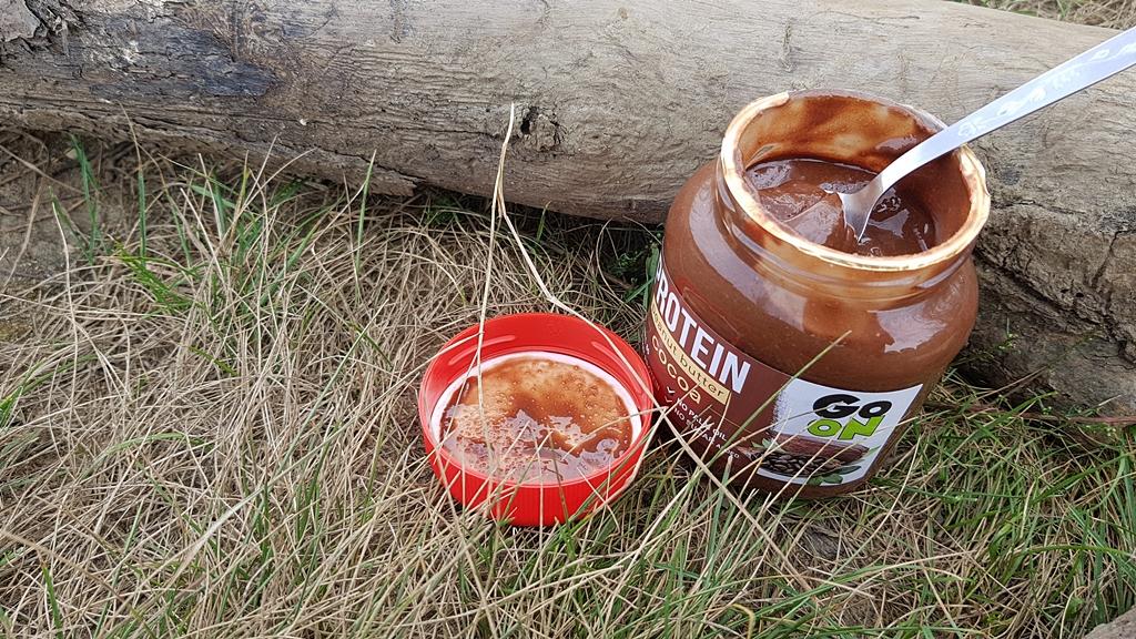 Masło orzechowe Go On PROTEIN (z kakao) - wygląd produktu