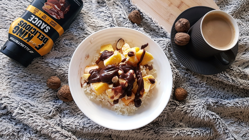 Ryż z mango i sosem FITKING DELICIOUS SFD o smaku reese's