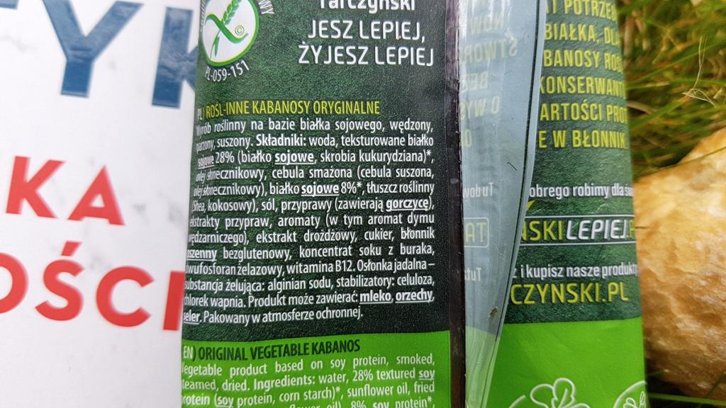 Kabanosy roślinne Tarczyński - skład produktu