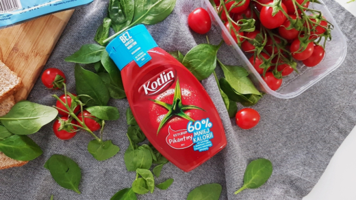 Ketchup Kotlin 60% kalorii mniej