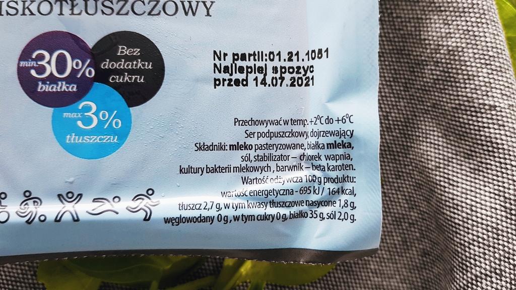 Ser Piórko Ceko - skład i tabela wartości odżywczych